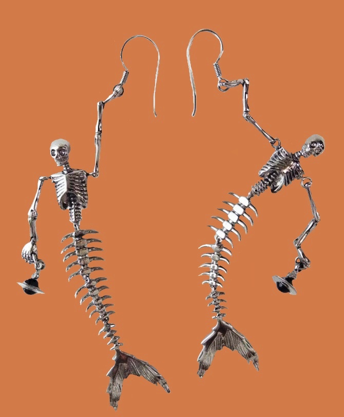 Mermaid Skeleton earrings. 2017
