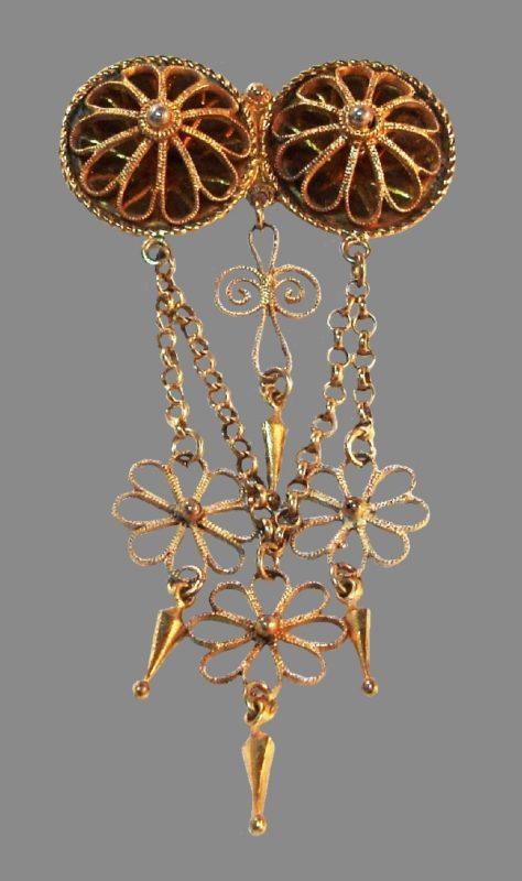 Norwegian costume jewelry, large brooch