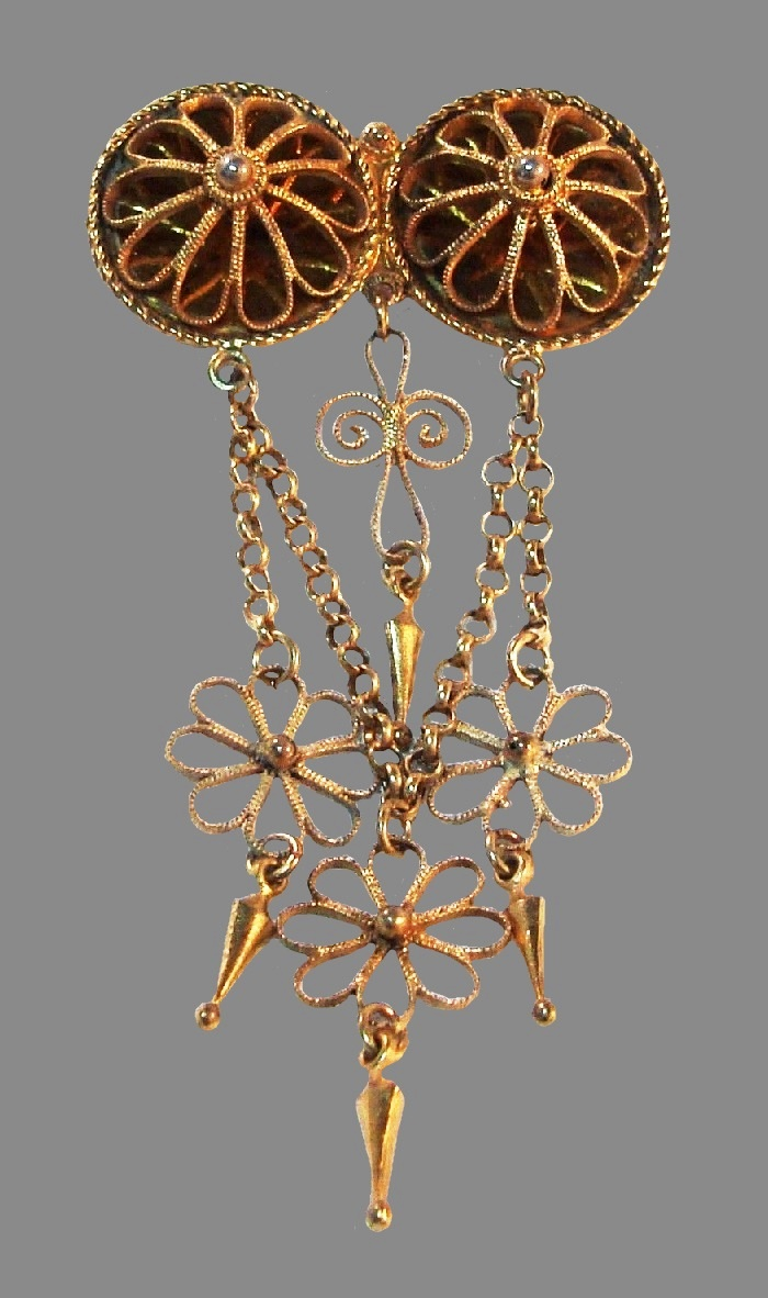 Norwegian costume jewelry, large brooch