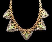 Palmia statement rhinestone necklace