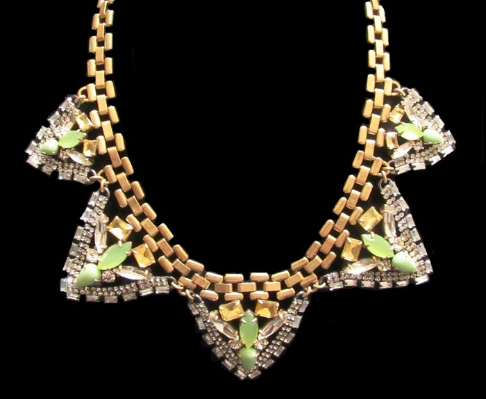 Palmia statement rhinestone necklace