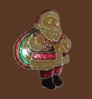 Santa Claus enameled brooch
