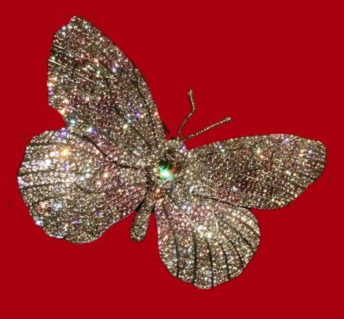 Sparkling Butterfly Brooch. Diamond, platinum, gold, 1990