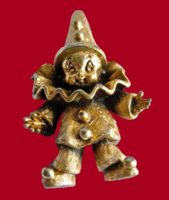 Tortolani clown brooch, 1960s