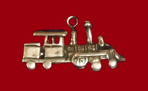 Train Engine sterling silver pendant