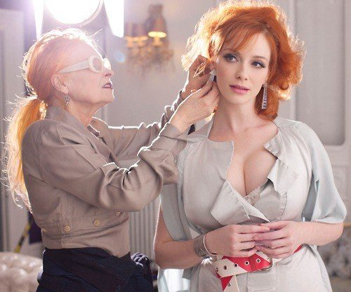 Vivienne Westwood and Christina Hendricks behind-the-scenes for Vivienne Westwood 'Get A Life' Palladium Jewelry Collection by Greg Williams