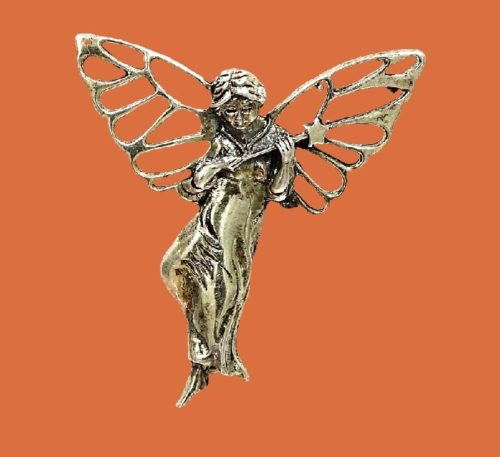 Winged Fairy with a wand brooch