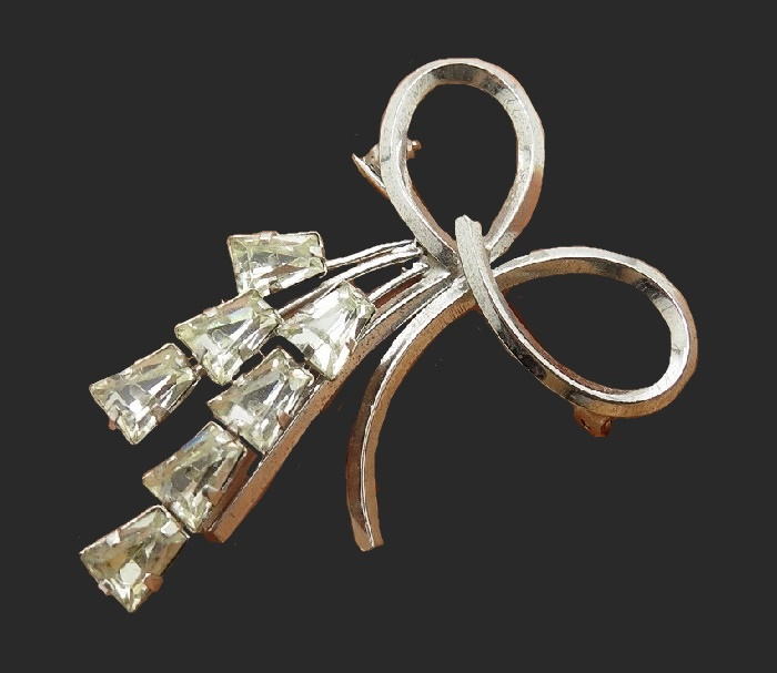 925 Sterling Silver Bow brooch