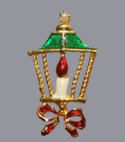 Candle Lamp Christmas brooch