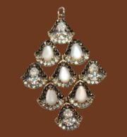 Chandelier pendant. Silver, marcasite