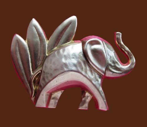 Elephant brooch, 1990s. Created for the release of Kenzo Jungle L' Elephant perfume house in 1997. 5 cm