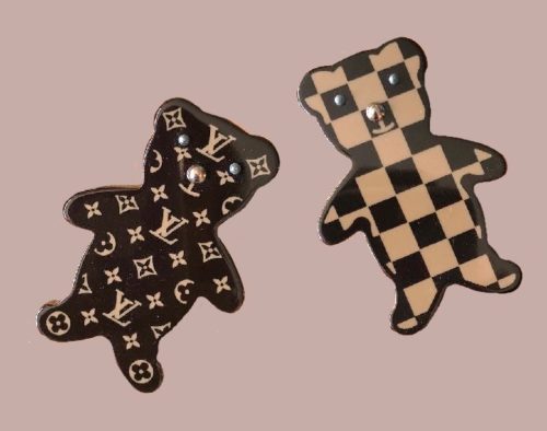 Monogram Damier LV Teddy Bear Pins