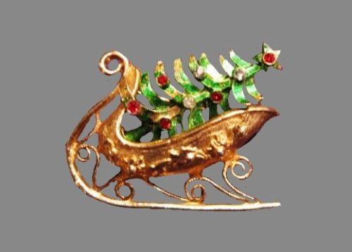 Mylu Christmas sleigh pin