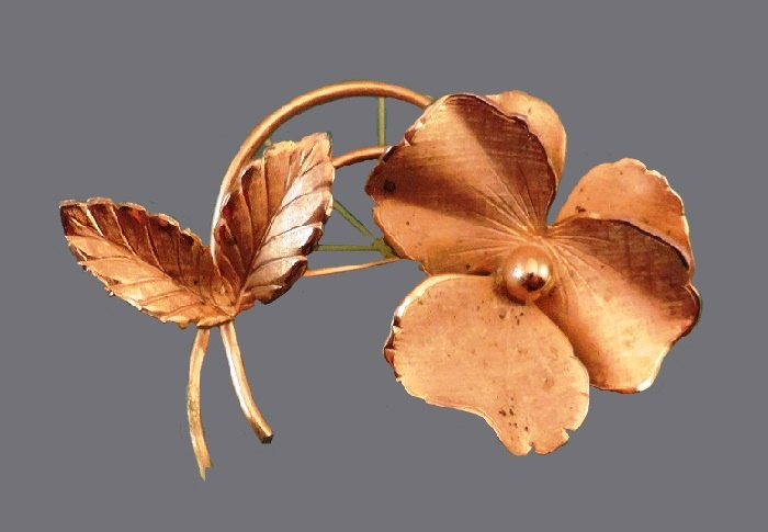 Pansy Flower Pin Brooch