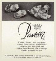 Retro ads promoting Pastelli jewelry