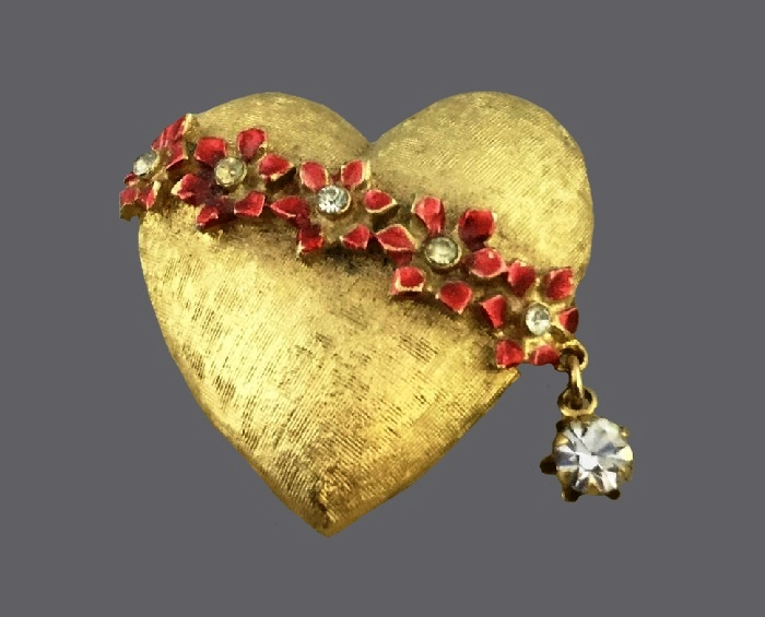 St. Valentine's heart brooch