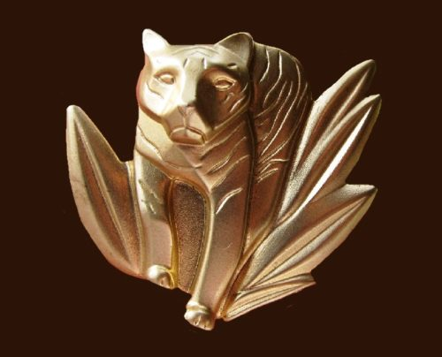 Tiger brooch, 1990s. Created for the release of a new Kenzo Jungle Le Tigre perfume house in 1997. 5 cm