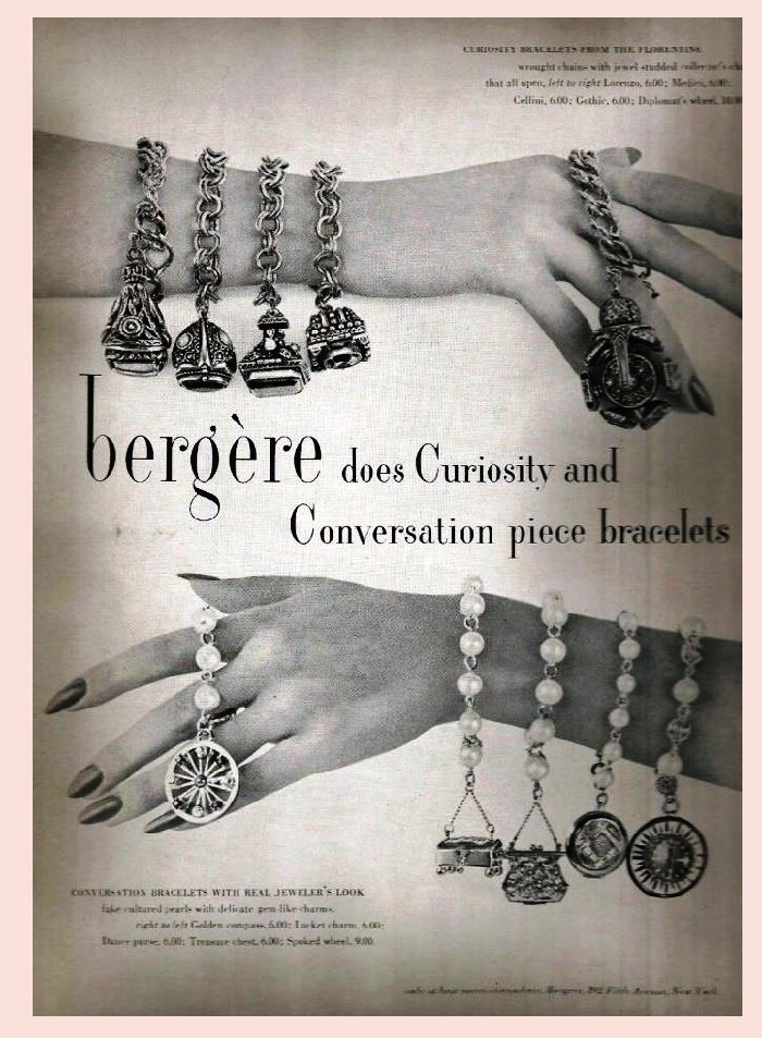 Bergere vintage costume jewelry
