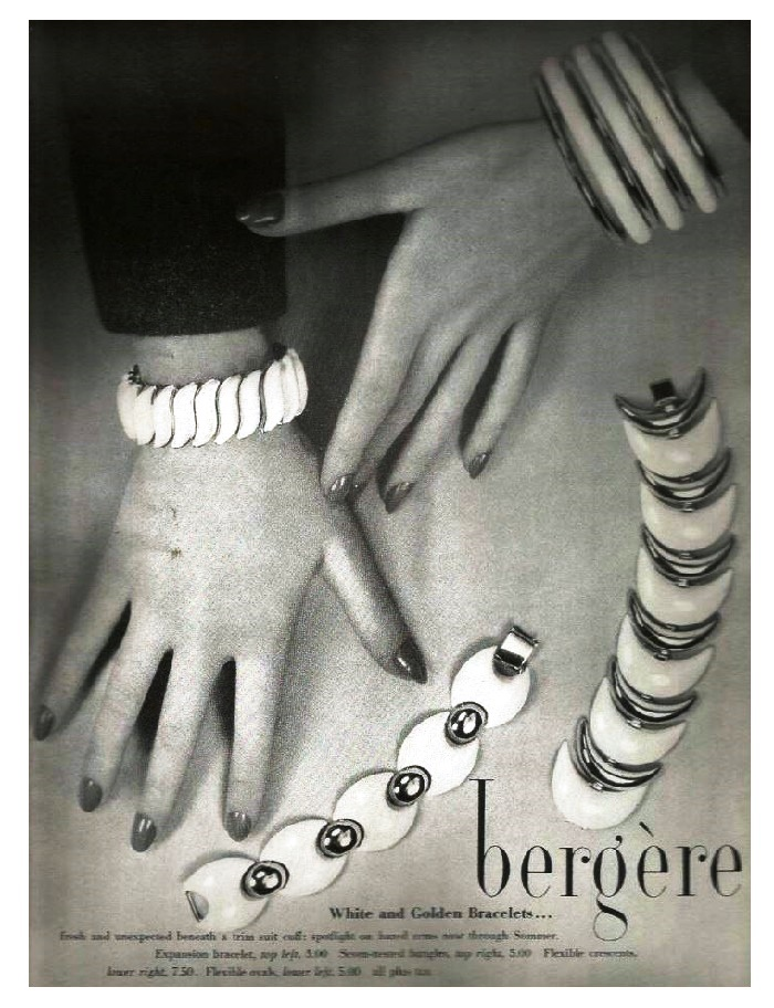Bergere vintage costume jewelry