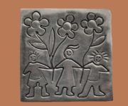 Brooch from the series of 'Native peoples of America'. Silver. 3.7 cm