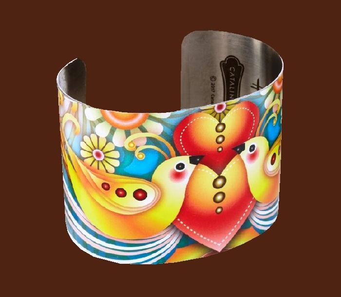 Catalina Estrada Lovebirds Cuff Bracelet