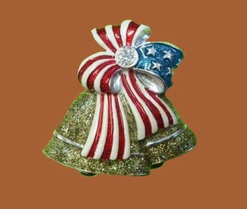 Christmas bell, from the series of patriotic jewelry