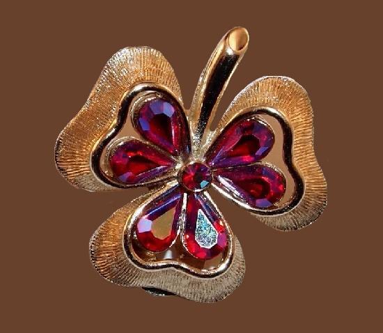Bergere Vintage Costume Jewelry Kaleidoscope Effect