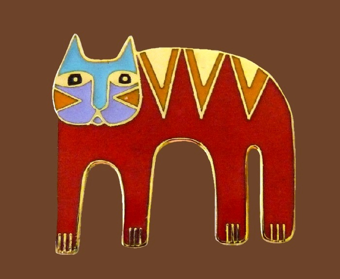 'Magicat' colorful enameled pin brooch