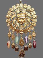 Nefertiti Scarab Stone Necklace Egyptian style