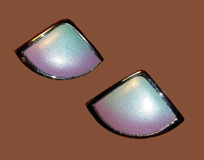 Ombre Blue Pink Earrings, 1970s