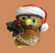 Owl Christmas brooch