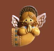 Praying Angel vintage plastic brooch