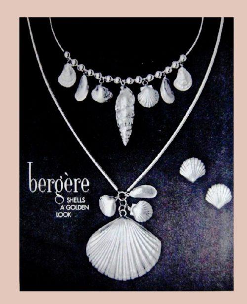 Seashells A Golden Look, vintage ad