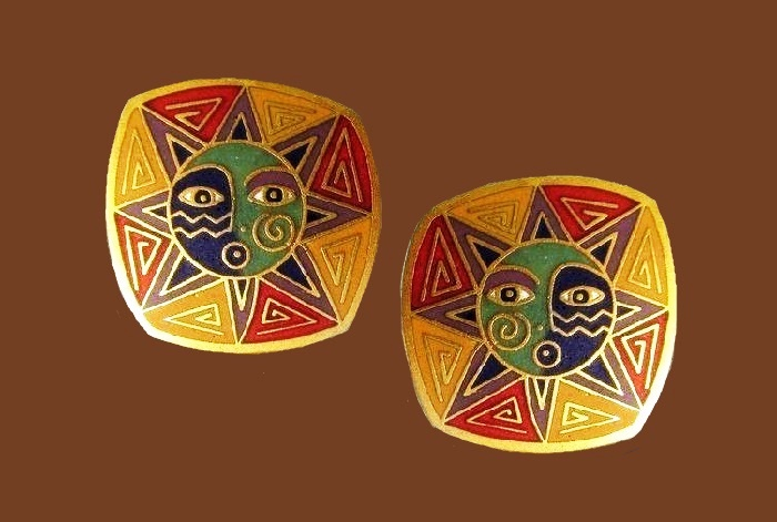 Sundance enameled stud earrings
