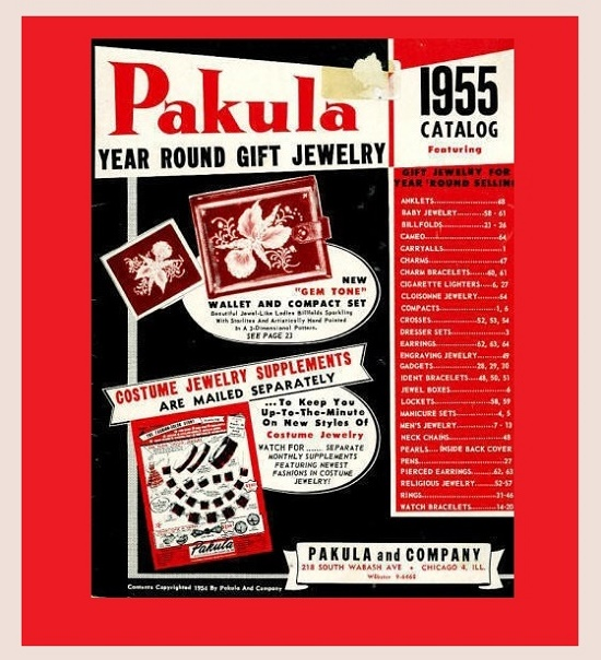 1955 catalog of pakula jewelry