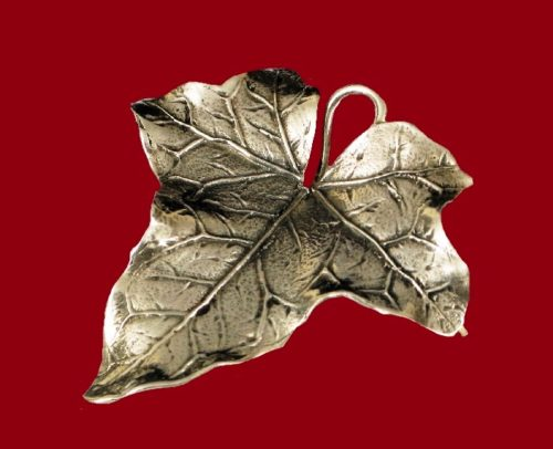 Autumn leaf sterling silver brooch