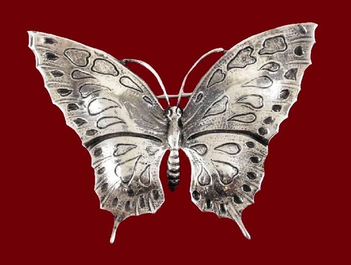 Butterfly brooch sterling silver