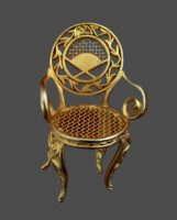 Chair brooch. Gold plated jewelry alloy