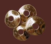 East Africa 1964 4-coin brooch of gold tone