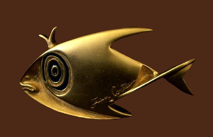 Fish brooch, bronze. 6 cm