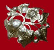 Flower sterling silver brooch