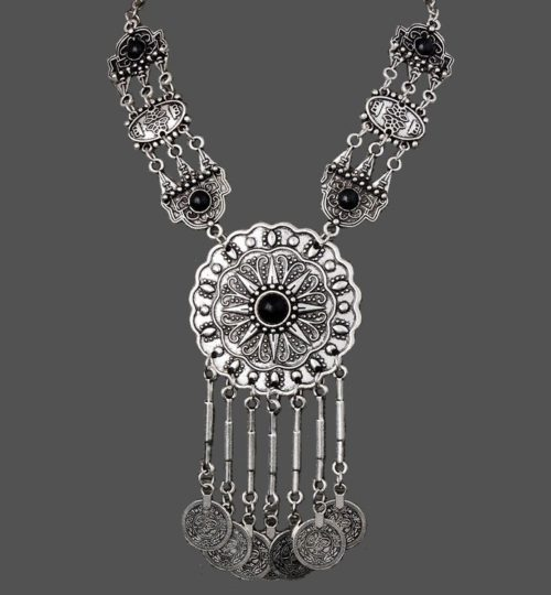 Gorgeous folk ornament necklace