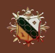Heraldic Enamel Brooch of gold tone