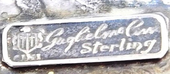 Signed Guilermo Cini sterling
