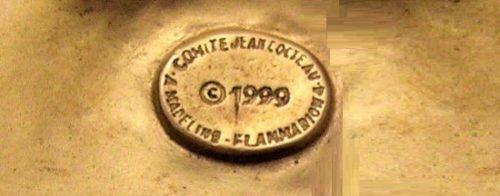 Signed Madeline Flammarion on Jean Cocteau design. 1999