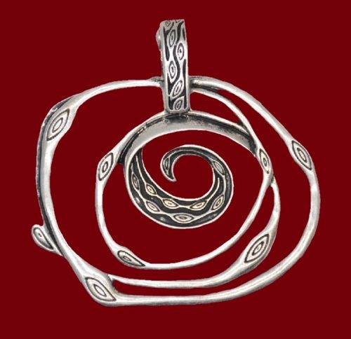 Slide pendant of silver