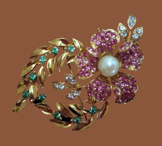 Signed M Jent vintage costume jewelry