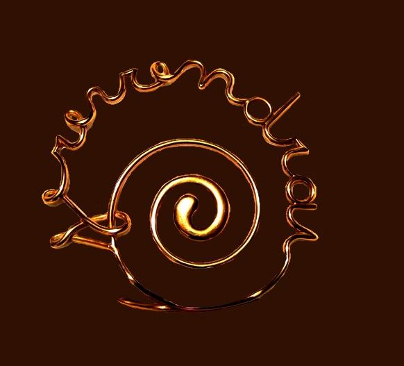 Swirl gold tone pin