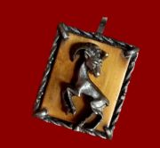 Taurus Zodiac sign pendant made of pewter and brass