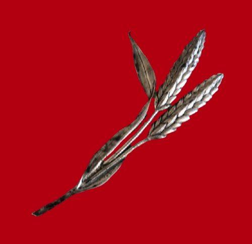 Wheat ear brooch, sterling silver